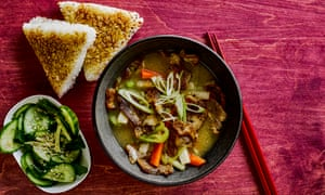 Tonjiru – pork belly and root vegetable miso soup.