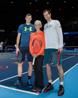 Judy Murray with her sons, Andy and Jamie