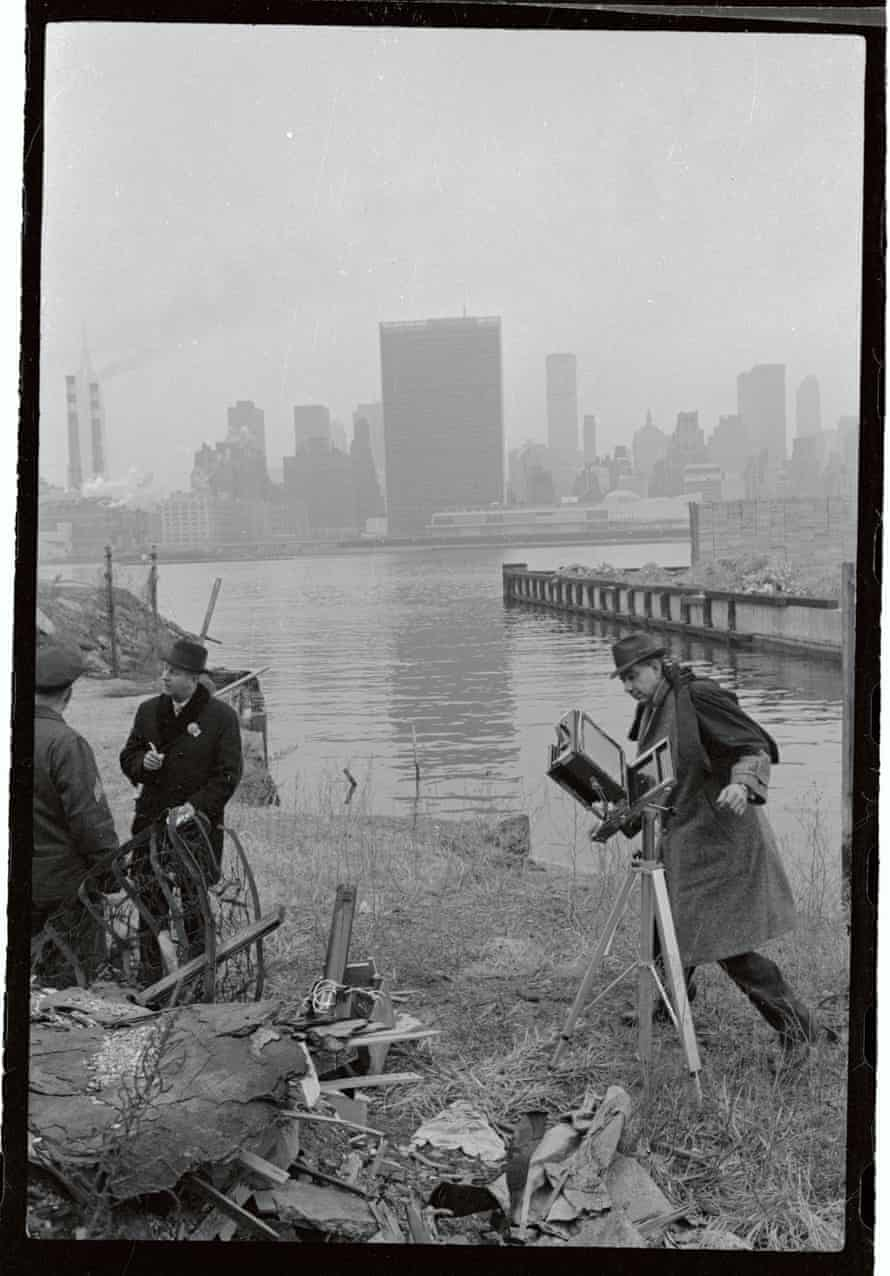 New York police photograph the bazooka fired towards the the UN building in 1964.