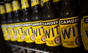 Beer made by Camden Town Brewery, which was sold to global firm AB InBev in 2015.