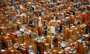 Amazon's 'fulfilment centre' in Hemel Hempstead, November 2015