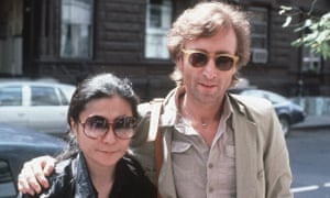 John Lennon and Yoko Ono in New York City. German police have arrested a man suspected of handling stolen objects from the Beatles' estate in 2006.