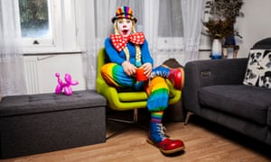 Who's laughing now?: Jenna Rothwell aka Minnie the Clown.