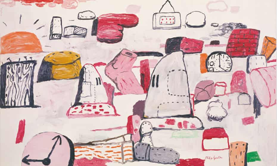 Flatlands, 1970, by Philip Guston. His Klan paintings were condemned as wilfully inept at the time but no one bjected to the subject matter
