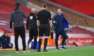 Frank Lampard (right) clashed with Jürgen Klopp at the end of the 2019-20 season and says he found the Liverpool manager's latest comments 'slightly amusing'.