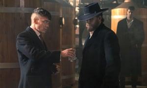Shaken not stirred: Tom Hardy's Alfie Solomons faces off against Thomas Shelby (Cillian Murphy)