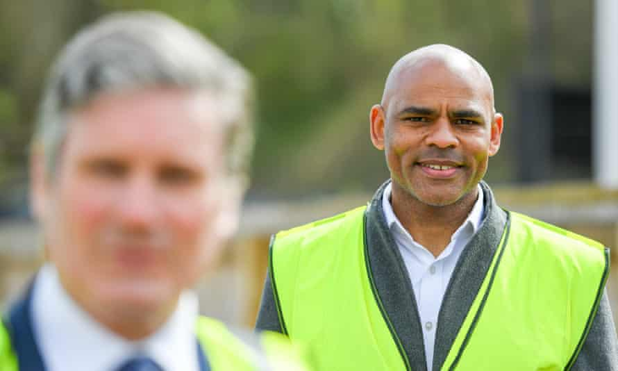 Bristol mayor Marvin Rees on the campaign trail with Keir Starmer.