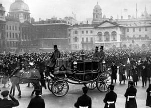The funeral procession of the late King George VI in 1952.