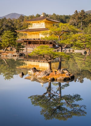 Golden PavilionThe sun reflects the gold of Kyoto's magnificent Kinkaku-ji temple on a mild winter day.