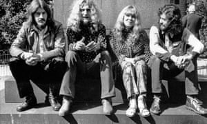 Members of Led Zeppelin pictured in 1970.