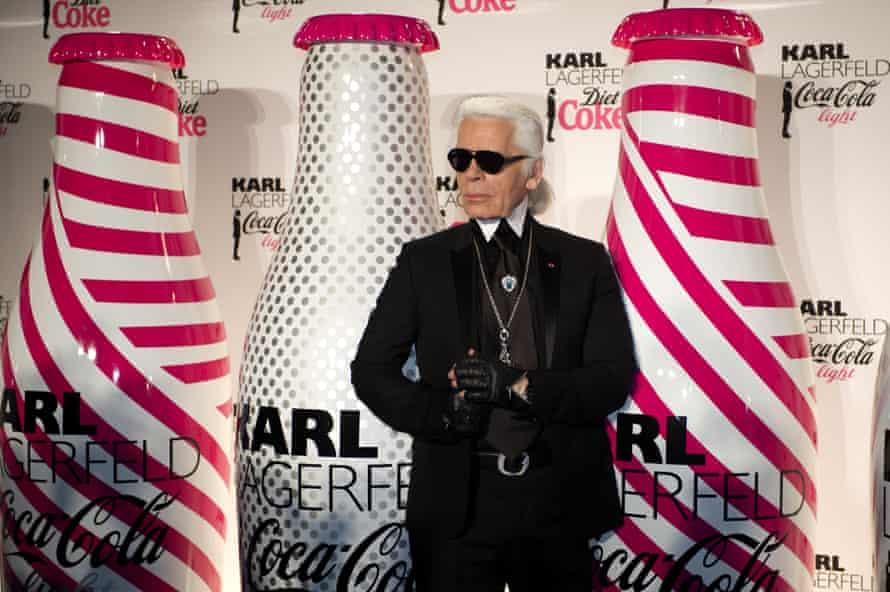 Former Diet Coke ambassador Karl Lagerfeld