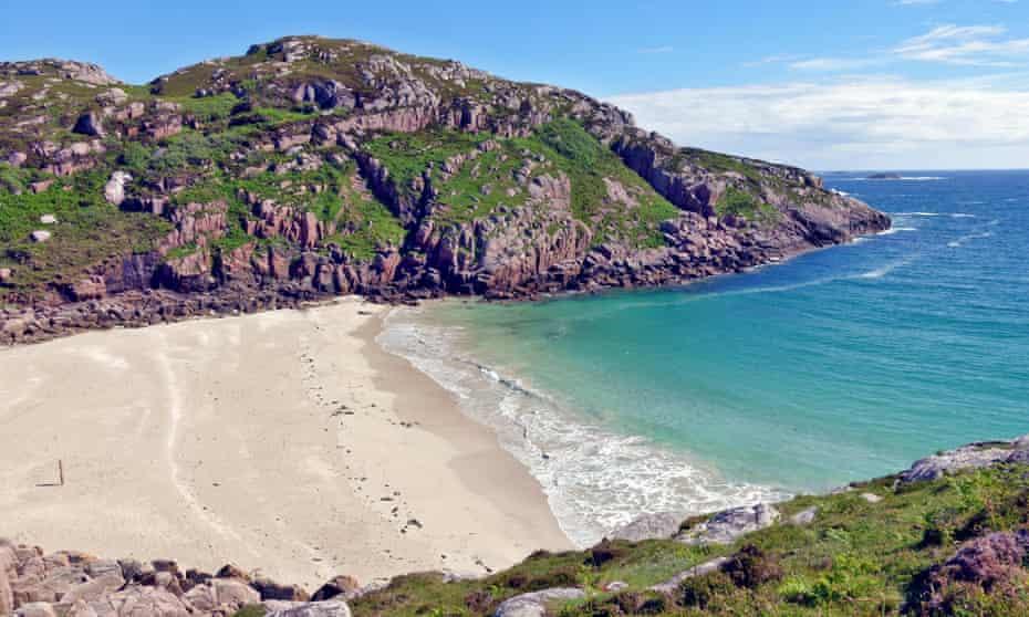 White Sandy beach locally known as 'Balfour's Bay