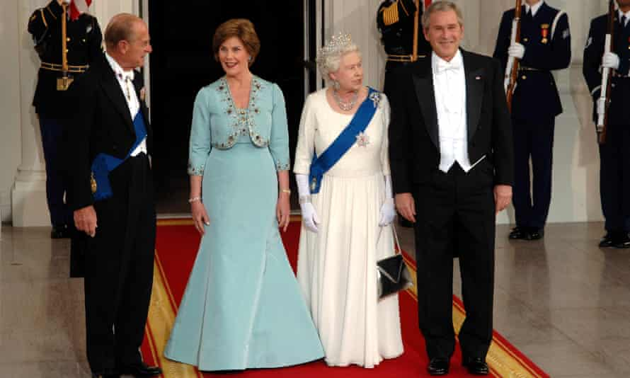 Queen and Prince Phillip with George W. Bush and his wife, Laura, in 2007.