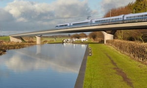 Artists impression of the Birmingham and Fazeley viaduct, part of the new proposed route for the HS2 high speed rail scheme
