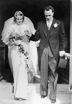 Bergman on her wedding day to Petter Lindström in Stöde, Sweden, on 10 July 1937. She would leave him for Roberto Rossellini in 1950.