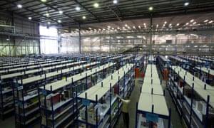 Amazon.co.uk's Marston Gate distribution centre Milton Keynes.