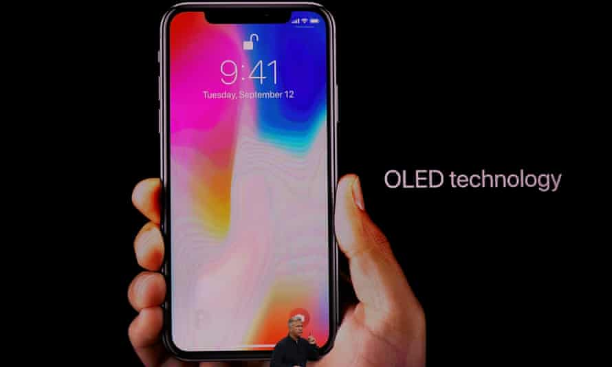 The iPhone X has a new OLED screen.