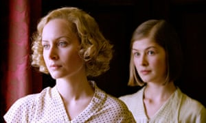 Left to right, Polly (Megan Dodds) and Fanny (Rosamund Pike) in Love in A Cold Climate.
