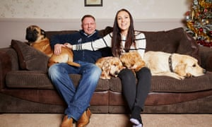 Laura Jacques and her partner, Richard Remde, who are flying out to South Korea for the Boxing Day birth of a clone of their beloved boxer dog, Dylan, who died in June this year.