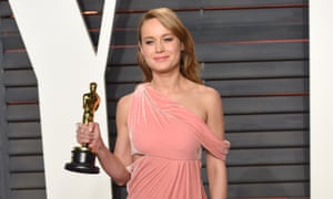 A beatific Brie Larson heads to the Vanity Fair party.