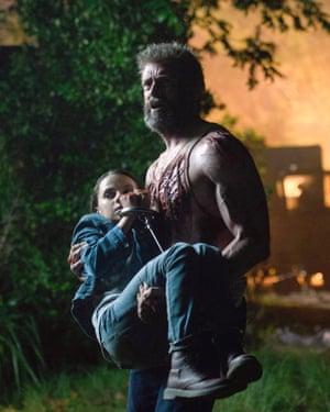 … with Hugh Jackman in Logan