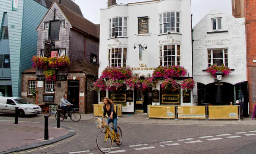 The Cricketers and Black Lion pubs in The Lanes, Brighton