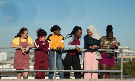 Rocks film stills Directed by Sarah Ruby Stokes as Agnes, Anastasia Dymitrow as Sabina, Kosar Ali as Sumaya, Bukky Bakray as Shola 'Rocks', Tawheda Begum as Khadijah and Afi Okaidja as Yawa
