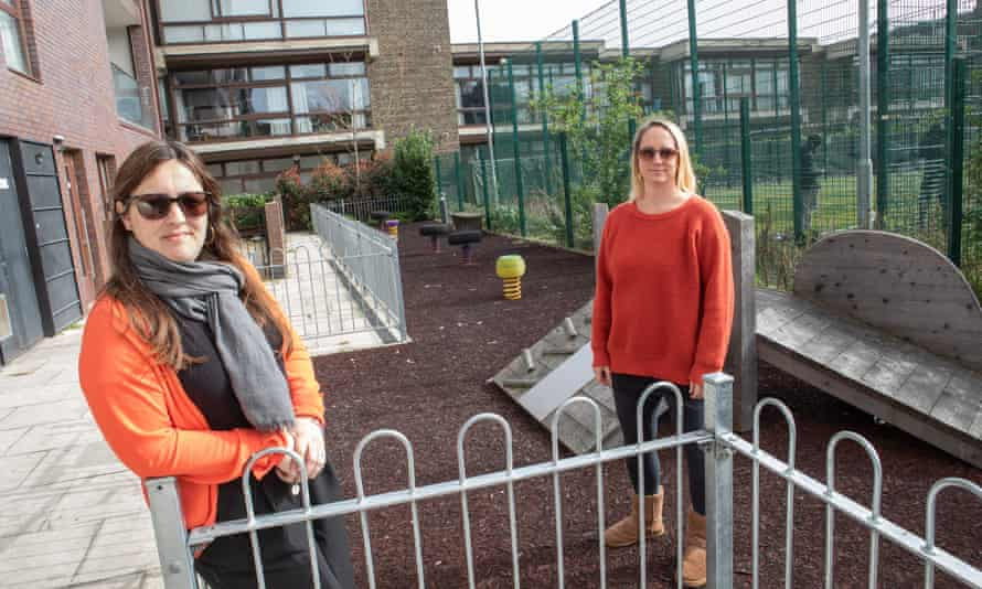 Sarina da Silva, left, and Louise Whitley at the Baylis Old School play area.
