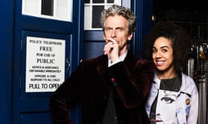 The 12th Doctor (Peter Capaldi) with Bill Potts (Pearl Mackie)