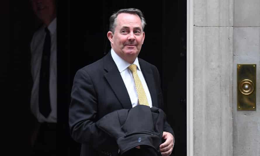 Liam Fox leaving 10 Downing Street