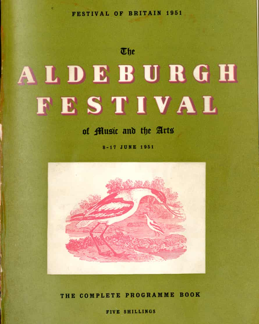 1951 Aldeburgh festival cover featuring an avocet.