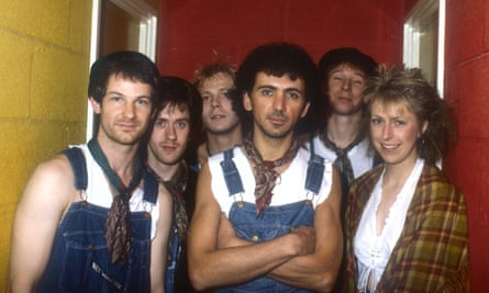 Change of pace … with Dexys Midnight Runners in the early 80s.