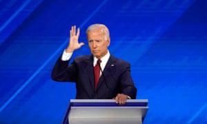 Former Vice President Joe Biden gestures during the 2020 Democratic U.S. presidential debate in Houston, Texas, U.S. September 12, 2019. REUTERS/Mike Blake