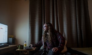 Mick Smart, one of the participants in Life on the breadline, photographed at home at Lakes Entrance, Victoria