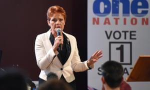 Australian senate candidate Pauline Hanson