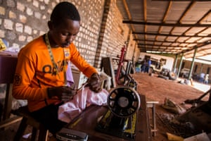 Lebron Baroka, an 18-year-old from a militia-controlled town called Bangassou, works as a tailor at Chinko.