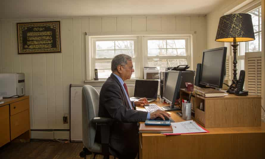 Chaudry in his home office.