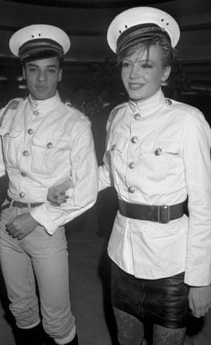 At the Models Ball at the Rainbow Room, New York, December 1981
