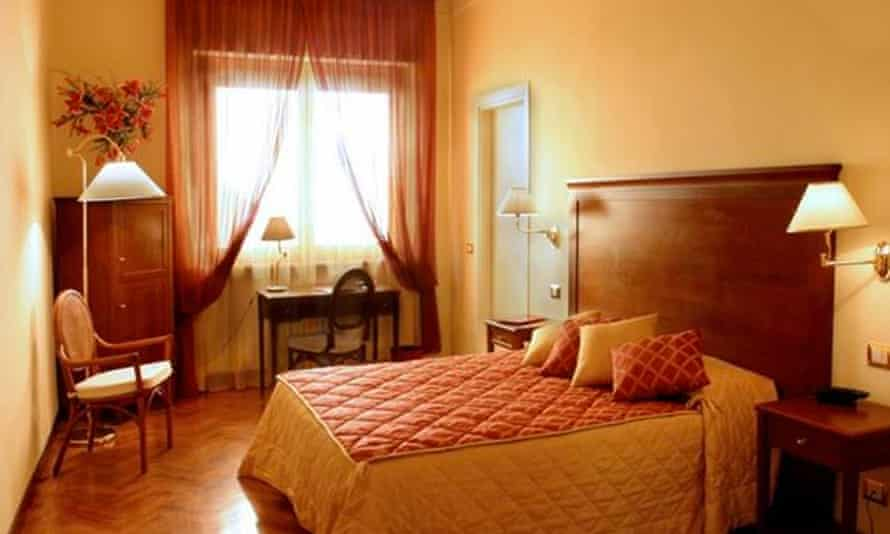 Bedroom at Hotel Alessandro della Spina, Pisa, Italy.