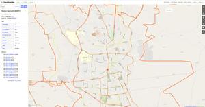 Yemen as seen using the Open Street Map website