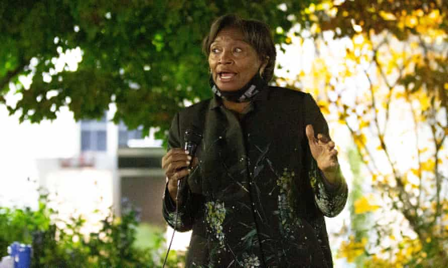 Andrea Stewart-Cousins addresses an election rally in Yonkers in November.