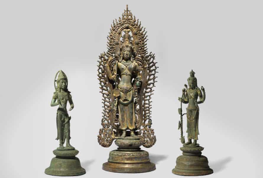 Cham people, Bodhisattva Avalokiteshvara Padmapani with attendants, 9th-10th century