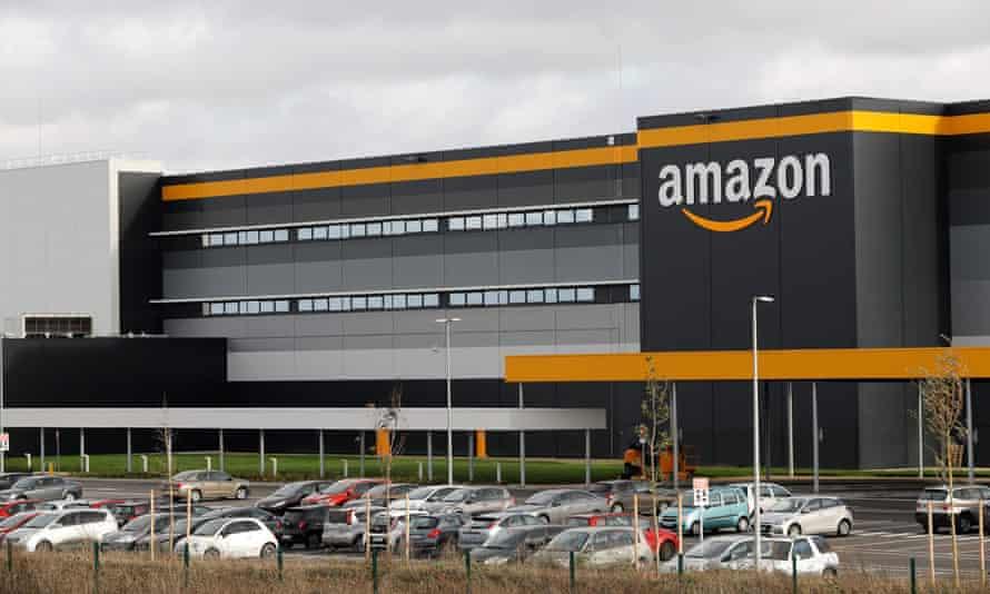 An Amazon centre in Brétigny-sur-Orge, south-west of Paris.