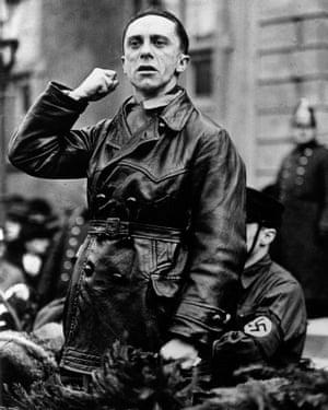 Attention seeker: Joseph Goebbels, minister of propaganda in Nazi Germany.