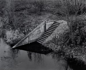 Stairs next to the Oder river bridge, Germany, May 1995