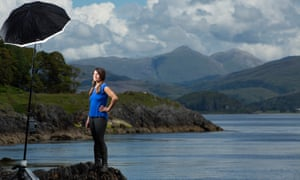 Author Tamsin Calidas photographed near her Scottish Island home.