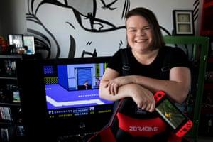 Jordan Raskopoulos lives in a home she describes as a 'Nintendo museum'.