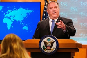 You're the puppet. No, you're the puppet. Secretary of state Mike Pompeo at a briefing today.