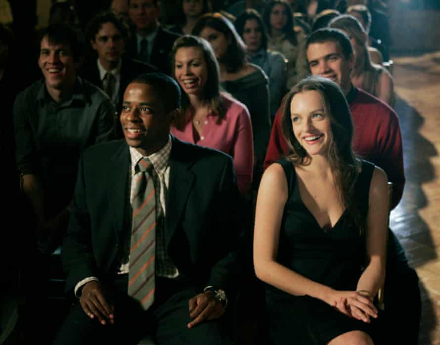 Elisabeth Moss as the president's daughter, Zoey Bartlet, in The West Wing