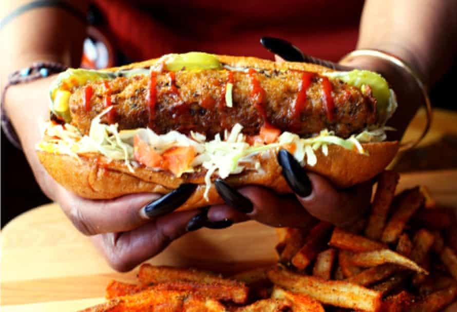 A sandwich at Souley Vegan.